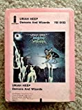 URIAH HEEP Demons And Wizards 8 Track Tape With Original Slip Case RARE Island