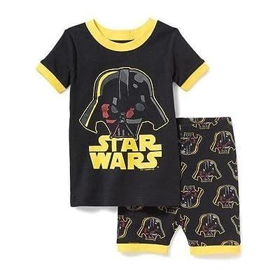 Old Navy Star Wars Darth Vader Size 3T Black Pajama Tee and Shorts Set