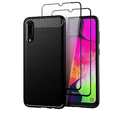 Amazon.com: Funda para Samsung Galaxy A70 con protector de ...