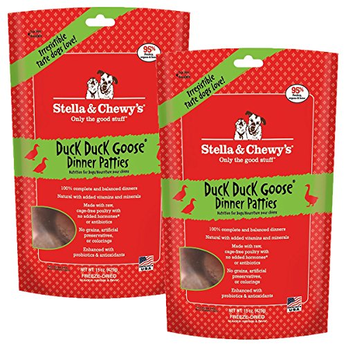 Stella & Chewy's Freeze-Dried Raw Duck Dinner for Dogs, 15 oz Pack of 2
