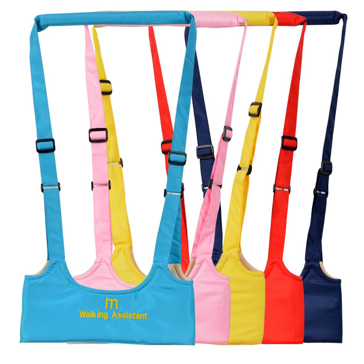 Babywalker Baby Toddler Walking Assistant Protective Belt Carry Trooper Walking Harness Learning Assistant Learning Walk Safety Reins Harness Walker Wings (Yellow) IBEPRO