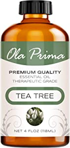 Ola Prima 4oz - Premium Quality Tea Tree Essential Oil (4 Ounce Bottle) Therapeutic Grade Tea Tree Oil