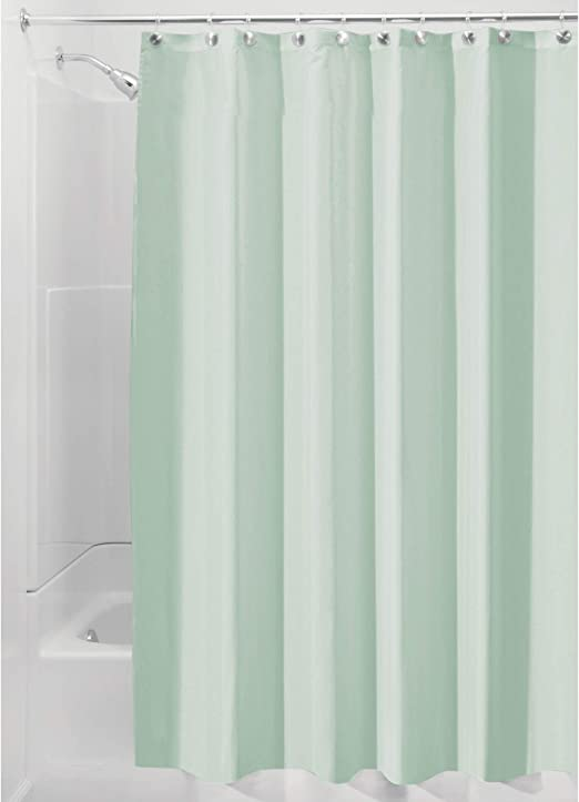 Idesign Fabric Shower Curtain Mold And Mildew Resistant Water Repellent Bath Liner For Master Bathroom Kid S Bathroom Guest Bathroom 72 X 72