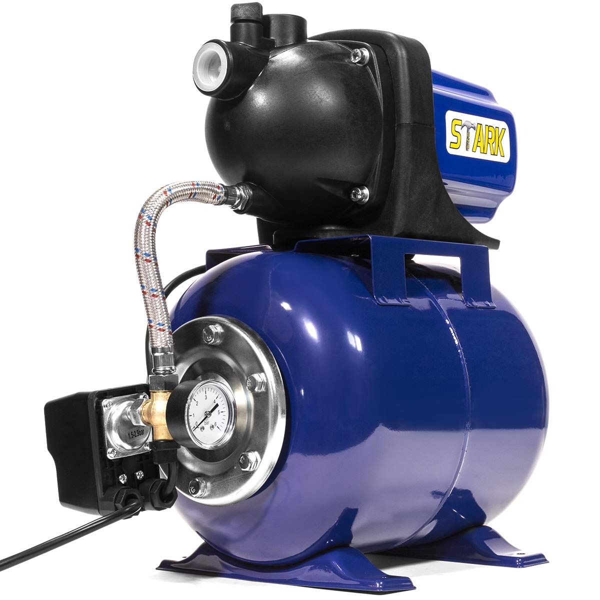 XtremepowerUS 1.6 HP Shallow Jet Water Well Pump with Tank Garden Sprinkler System, Blue by XtremepowerUS