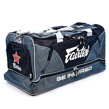 d12ba7d3a75f Fairtex BAG2 Thai Boxing Heavy Duty Gym Bag Myay Thai MMA (Gray, One ...