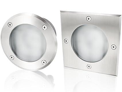 Tapis Gx53 230 V Ip65 Lampe Encastrable Acier Inoxydable Verre