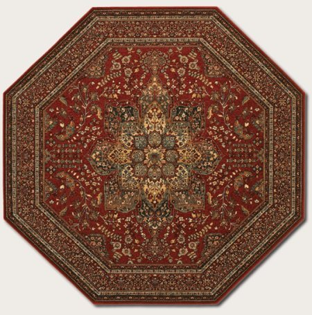 Couristan 8143/3203 Kashimar Imperial Baktiari/Antique Red 2-Feet 2-Inch by 4-Feet 9-Inch Rug