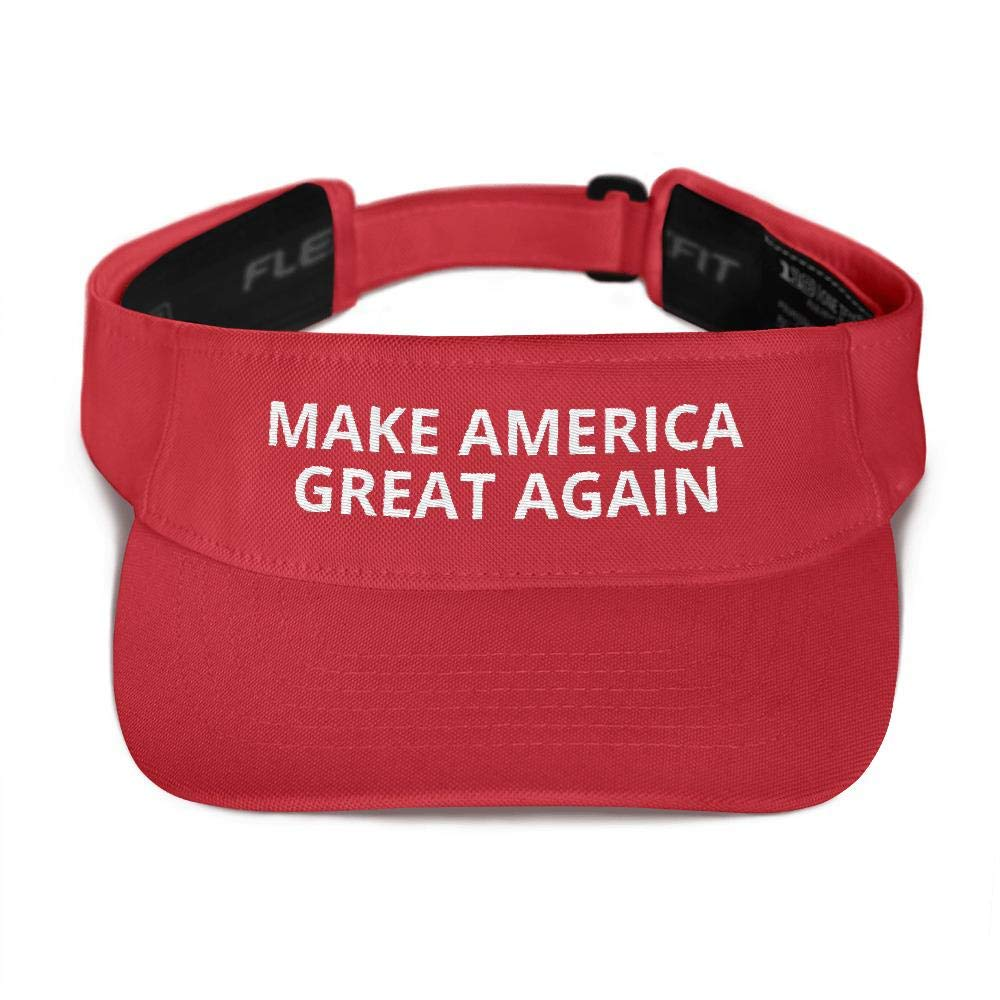 Donald Trump Make America Great Again Visor Red by Libertee Shirts