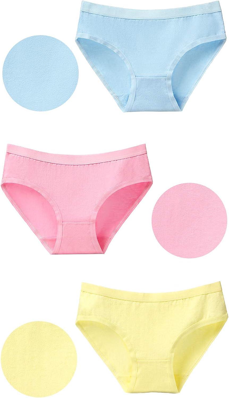Kidear Womens Cotton Underwer 8-Pack Knickers Girls Mid Rise Briefs Panties