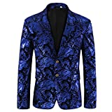 Cloudstyle Men's Dress Floral Suit Notched Lapel Slim Fit Stylish...