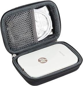 Hermitshell Hard EVA Travel Case for HP Sprocket Portable Photo Printer (Black)
