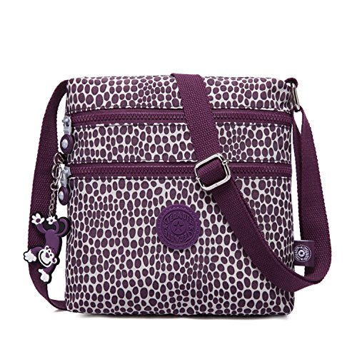 Casual Purple Cross Girls Messenger Bag Foino Women Sport Bag Side Body Travel Satchel Fashion for Shoulder Bag Pack 1TtHxqw