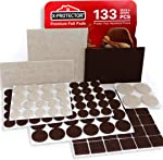 X-PROTECTOR Premium Two Colors Pack Furniture Pads 133 Piece! Felt Pads