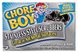 CHORE BOY 2 Count Stainless Steel Scrubbers, Assorted