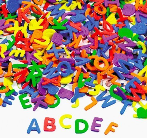 Fun Express Products Adhesive Foam Letters Novelty (1040 Piece) ()