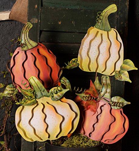 - The Round Top Collection - Pumpkins Orange Mini - Asst. 2 - Metal