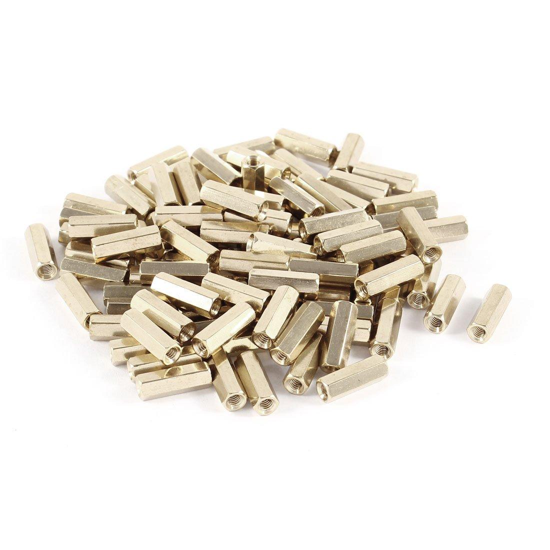 uxcell 50pcs Brass Round Straight PCB Pillar Female Thread Standoff Spacer M2x3x29mm