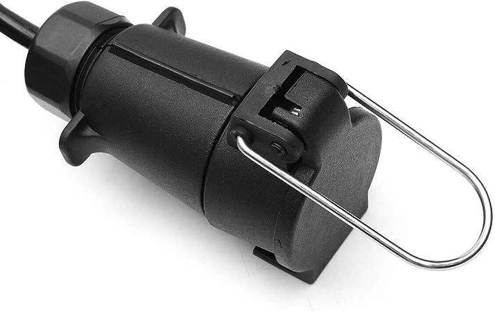 2 Millones 300Cm 7Pin Trailer Light Board Cable De Extensi/ón Cable Macho A Hembra Luces para Cami/ón De Remolque C-FUNN 200