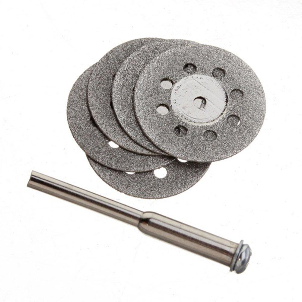 5pcs 22mm Mini Sharp rotatif de coupe diamant ventilé Disques Disques outils avec 1tige EMVANV