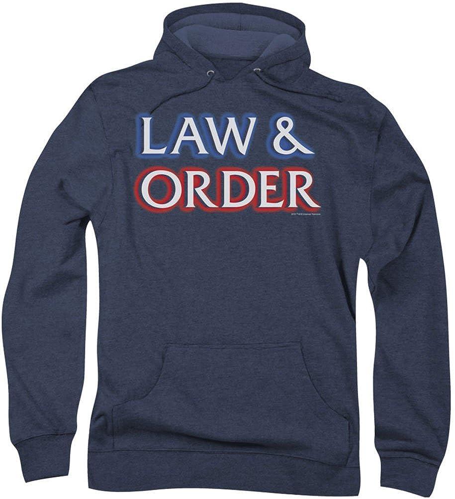 Navy petit Law & Order - - Logo Hommes sweat à capuche