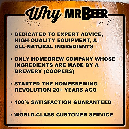 Mr. Beer Premium Gold Edition 2 Gallon Homebrewing Craft Beer Making Kit with Two Beer Refills, Convenient Fermenter and Bottles Designed for Simple and Efficient Homebrewing by Mr. Beer (Image #5)