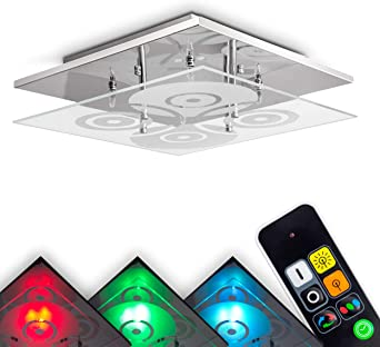 LED Decken Leuchte RGB Dimmer Fernbedienung Gäste Zimmer Spiral Design Lampe