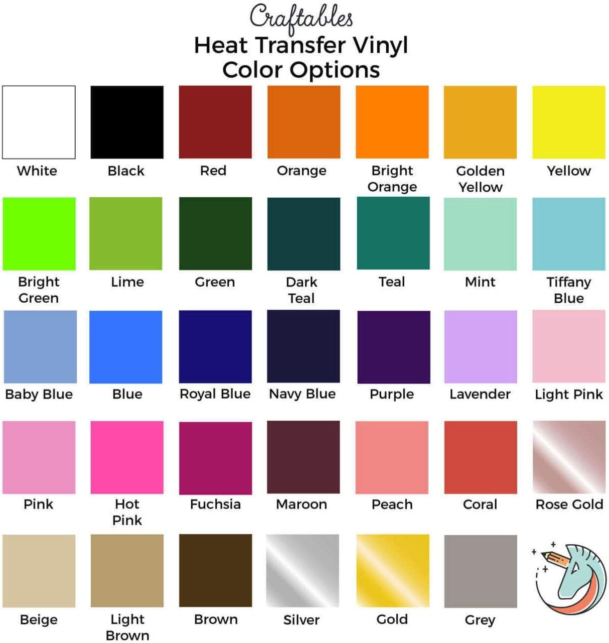 Craftables Bright Orange Heat Transfer Vinyl Roll HTV 11 ft Guaranteed Size - Easy to Weed Tshirt Iron on Vinyl for Silhouette Cameo Heat Press Ships Flat Cricut All Craft Cutters
