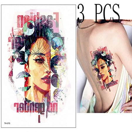 Handaxian 3pcs Apliques de Tatuaje Tatuaje Femenino Moda ...