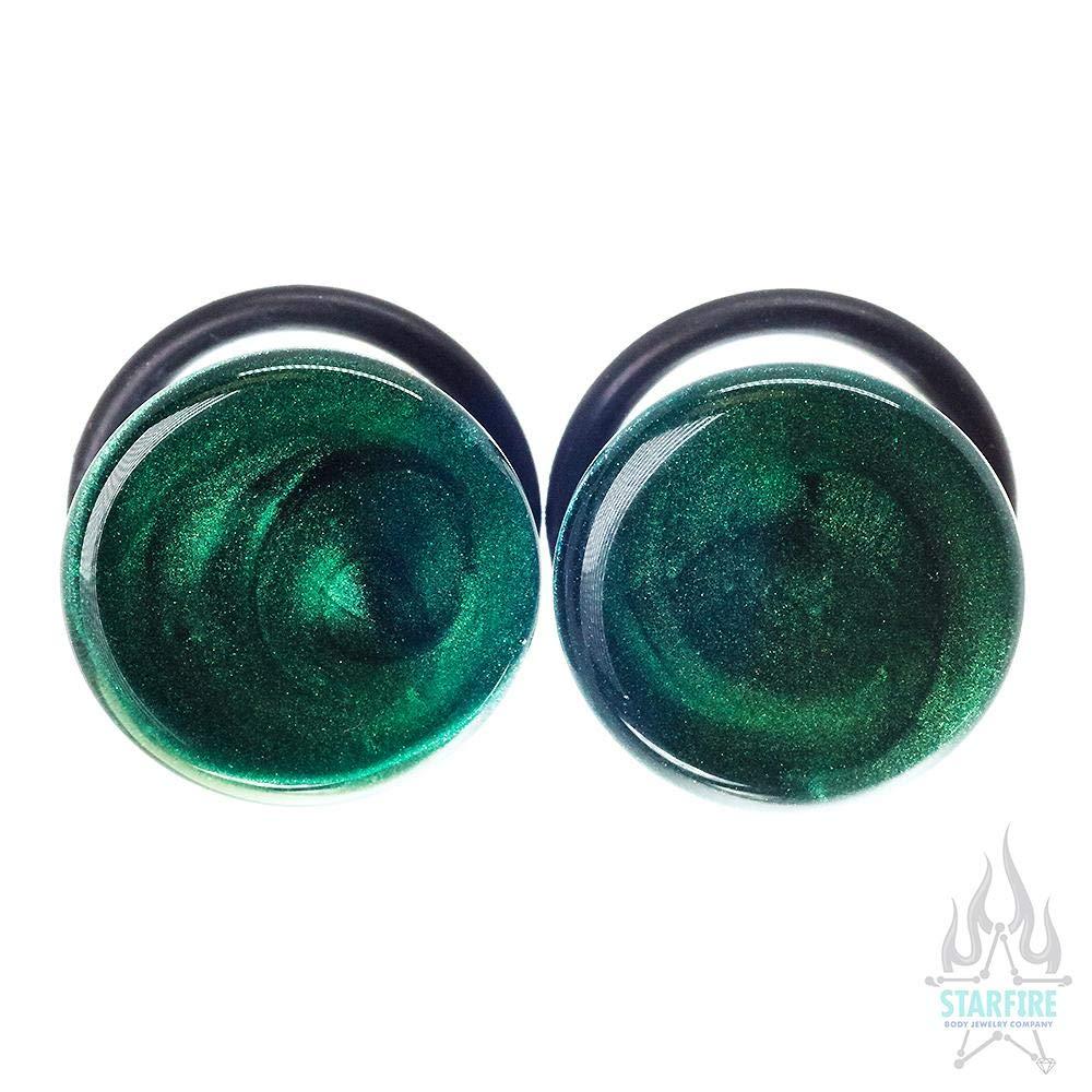 Kryptonite Premium Multiple 7//8 40029-406 Glasswear Studios Single-Flared Glass Colorfront Plugs
