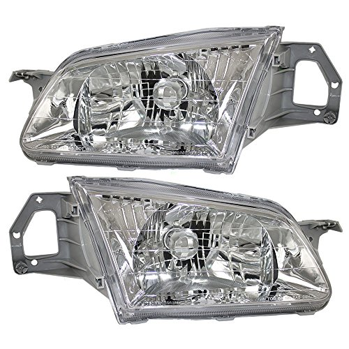 (Driver and Passenger Headlights Headlamps Replacement for Mazda BJ0E-51-040A-P1 BJ0E-51-030A AutoAndArt )