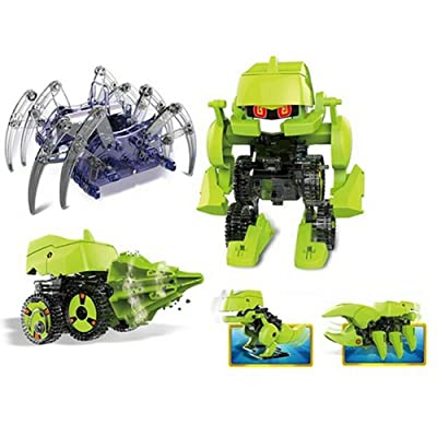 4 in 1 Spider & Solar Dinobot Kit to Build: Toys & Games