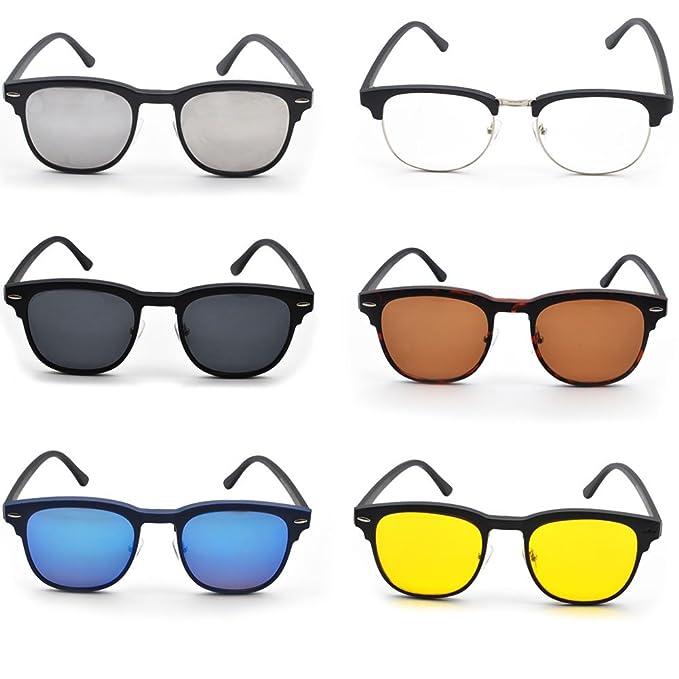 GreeSuit Lunettes de soleil polarisées 6 en 1 lunettes de cadre en métal avec clip-on magnétique polarisé anti-éblouissement lentilles de lunettes de soleil lunettes optiques ANWNged82d