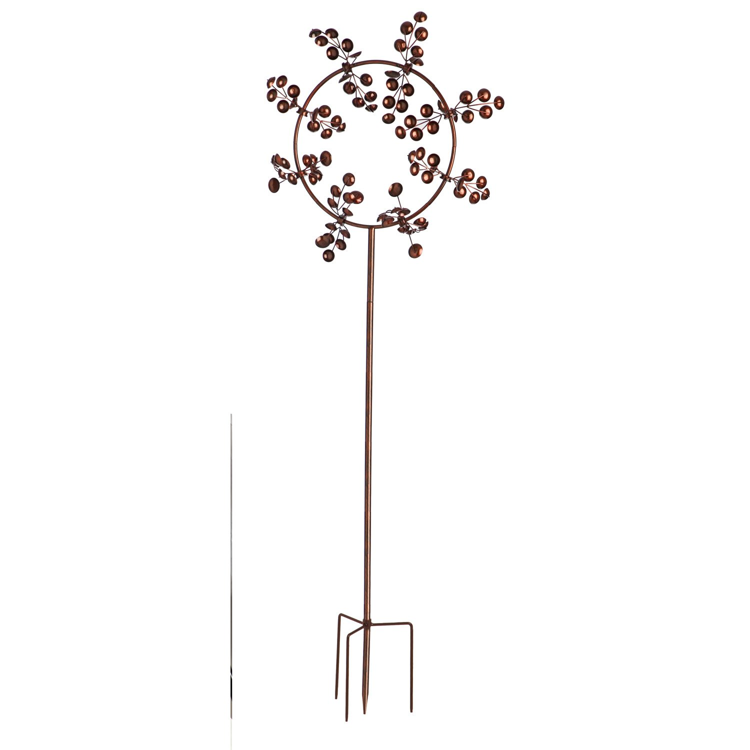 Evergreen 75-inch Gleaming Jubilee Outdoor Safe Kinetic Wind Spinner Garden Stake
