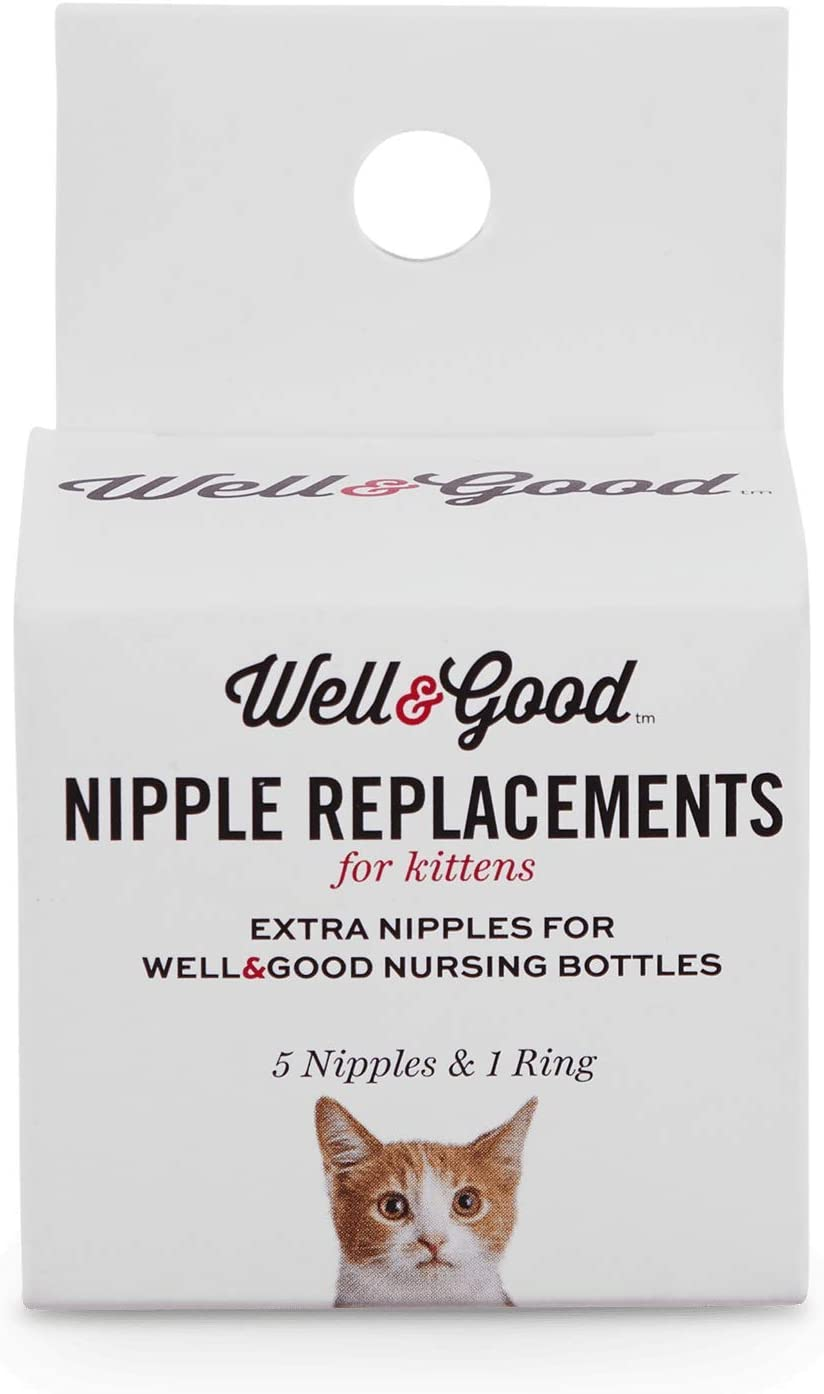 Well & Good Replacement Kitten Bottle Nipple Kit