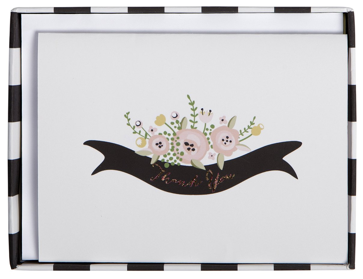 C.R. Gibson Boxed Wedding Thank You Notes, 8-Count, True Love (CT6-14330)