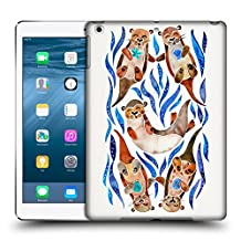 Official Cat Coquillette Blue Otters Animals 2 Hard Back Case for Apple iPad 3 / 4