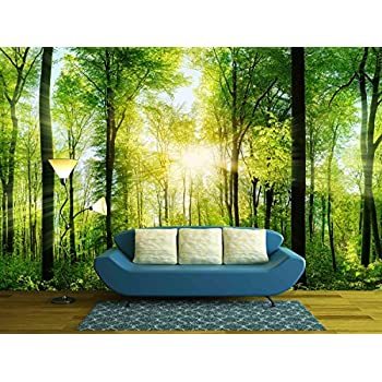 Amazon.com: Ideal Décor DM216 Autumn Forest 144-Inch-by-100-Inch 8 ...