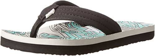 Boys Reef Little AHI Blue Water Comfort Beach Flip Flop Sandals