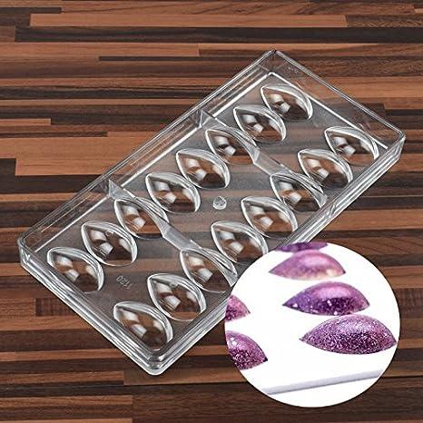 SODIAL Forma de Lotus PC Policarbonato Molde de Chocolate 3D Alimentos Molde de Chocolate Herramientas de Cocina Moldes para Hornear Herramientas: ...