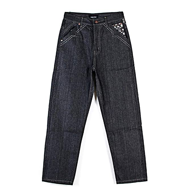 93b82618be Ruiatoo Men s Baggy Jeans Loose Hip Hop Denim Pants Black Jeans 36   Amazon.ca  Clothing   Accessories