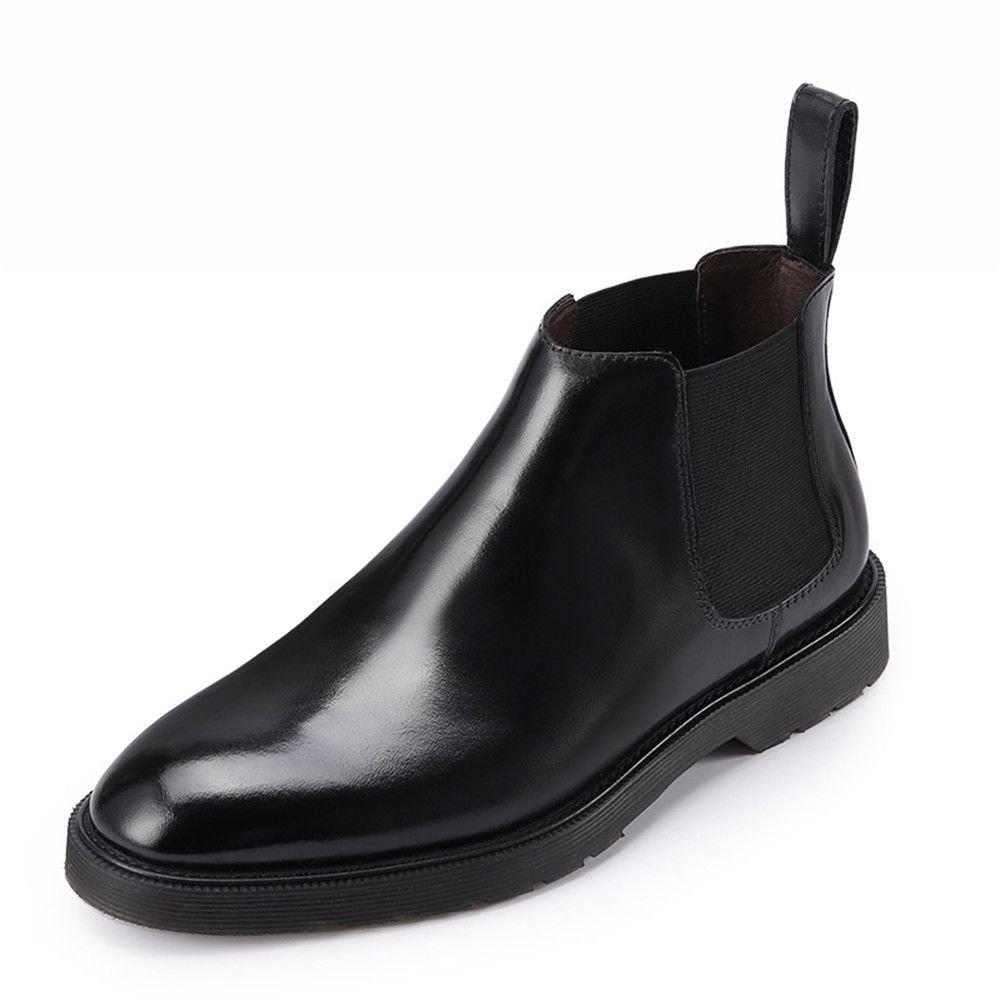 Chelsea - stiefel - lederstiefel hohe stiefel retro - martin,schwarz,41