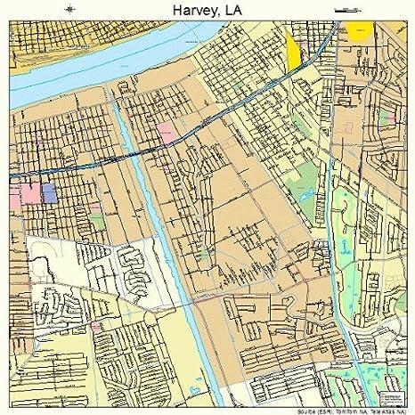 Harvey Louisiana Map.Amazon Com Large Street Road Map Of Harvey Louisiana La