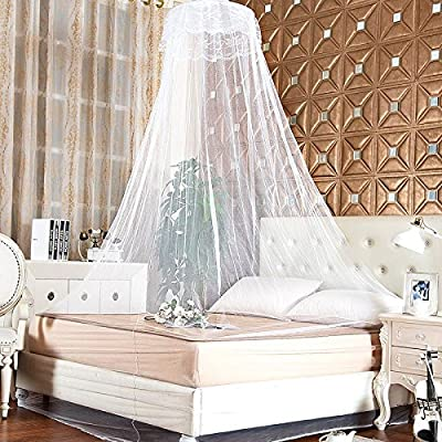 Mosquito Net Mesh - Round Insect Bed Mosquito Net Mesh Hung Dome Princess Home Canopy Adult Student Bedding - Netting Take-Home Meshwork Sack Final Profit Reticulation Earning - 1PCs