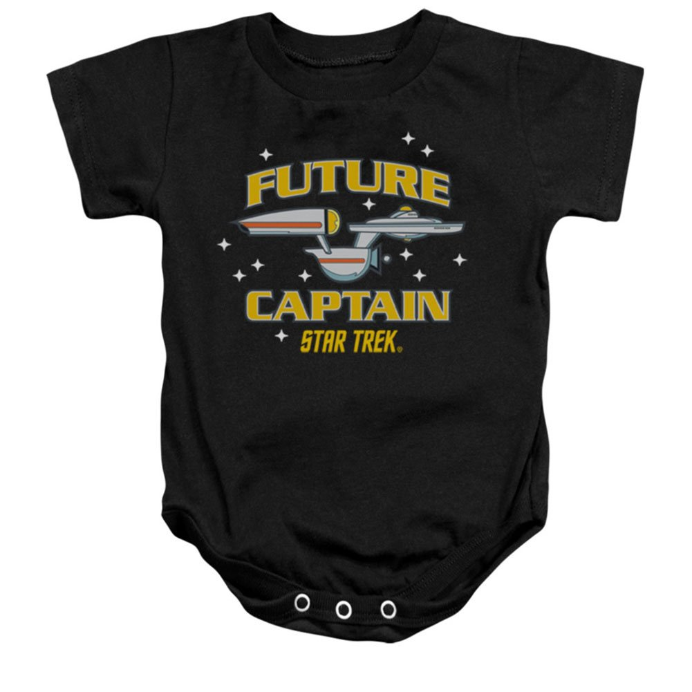 Star Trek Next Generation TV Series Future Captain Baby Infant Romper Snapsuit Trevco