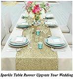 ShinyBeauty Matte Gold 12x108-Inch Sequin Table