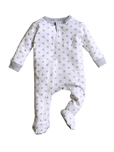 0081f5a0b Nino Bambino 100% Pure Organic Cotton Round Neck Front Zipper Closure Full  Sleeve Polka Dotted