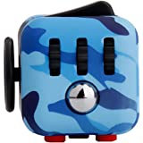 Starsprairie Upgrade Fidget Cube 2th Cool Office Desktop Stress Relief/Anxiety Attention Toy Decompresion Dice for Adults, Children, Autism, ADHD and Fidgeters, Blue Camo