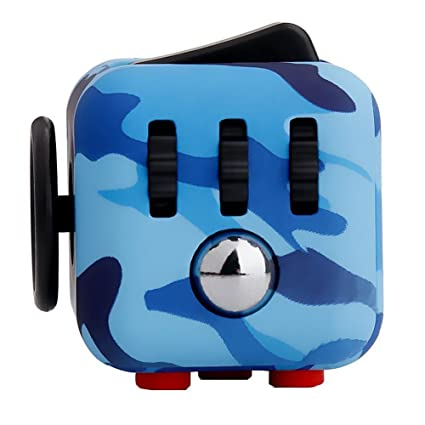 Starsprairie Upgrade Fidget Cube 2th Cool Office Desktop Stress Relief Anxiety Attention Toy Decompresion Dice