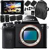 Sony Alpha a7 Mirrorless Digital Camera with Atomos Shogun Inferno 7 4K HDMI/Quad 3G-SDI/12G-SDI Recording Monitor 11PC Accessory Bundle – Includes Deluxe Backpack + MORE