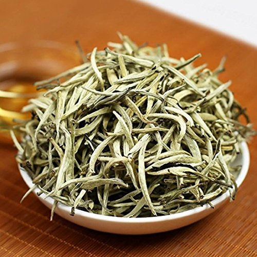 Premium Chinese Organic Bai Hao Yin Zhen Silver Needle White Leaf Tea - Direct Delivery From Fujjan China - Cholesterol Lowering Weight Loss Tea (500g (17.63 ounce)) by China Farm Products (Image #1)